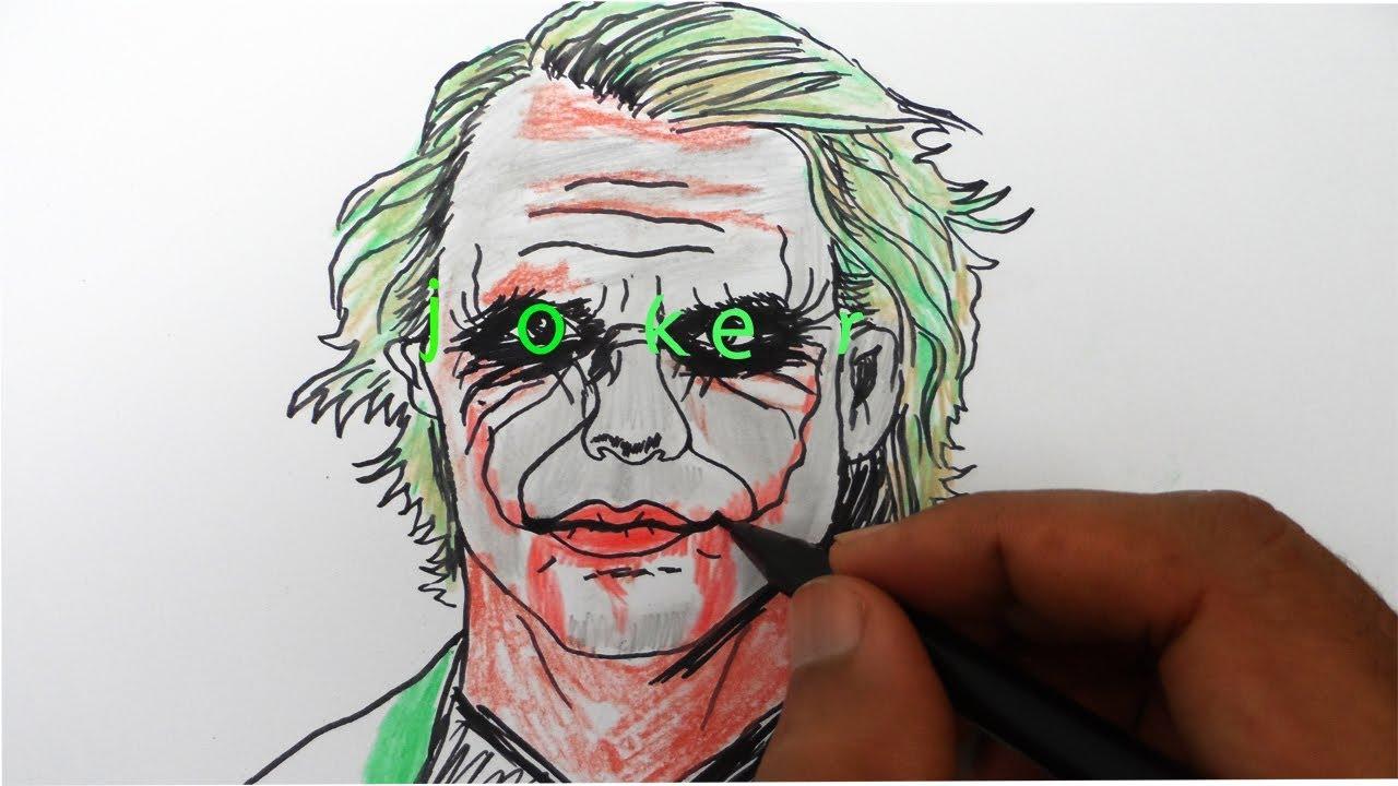 Cara Menggambar JOKER Dari Kata Joker