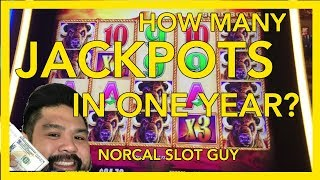 MUST WATCH!!! 💰HOW MANY HAND PAY JACKPOTS IN 1 YEAR?? | NorCal Slot Guy