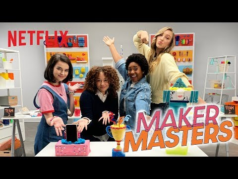 DIY Challenge: Tissue Box Phone Holders 📱 Maker Masters | Netflix Futures