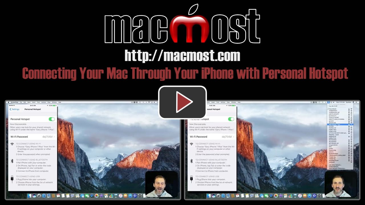 Connecting Your Mac Through Your iPhone with Personal Hotspot