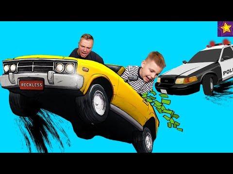 Полицейская ПОГОНЯ на Машинках !!! Как ИГОРЬ Едет от ПОЛИЦИИ ?!