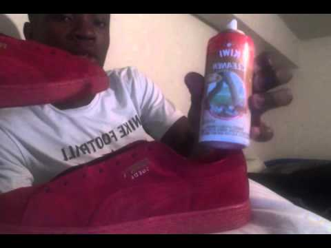how to clean red pumas