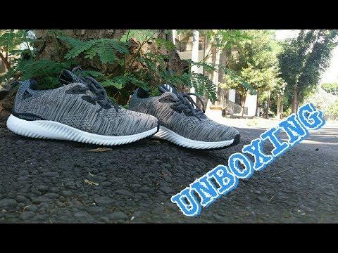 unboxing sepatu adidas alpha bounce (murah ma berkualitas) su youtube