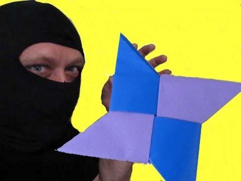 Make An Origami Ninja Throwing Star Shuriken Youtube