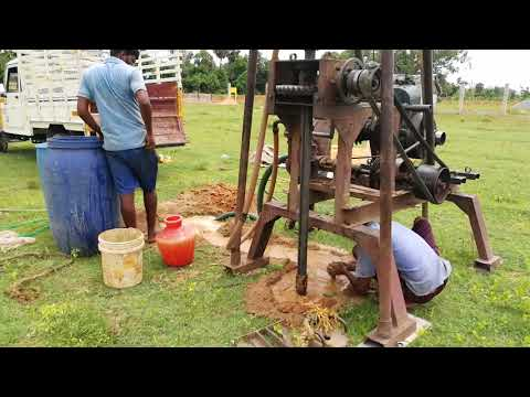 Rotary drilling for soil testing