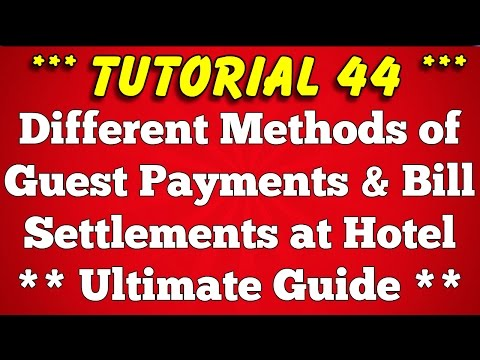 Methods of Payment in Hotel