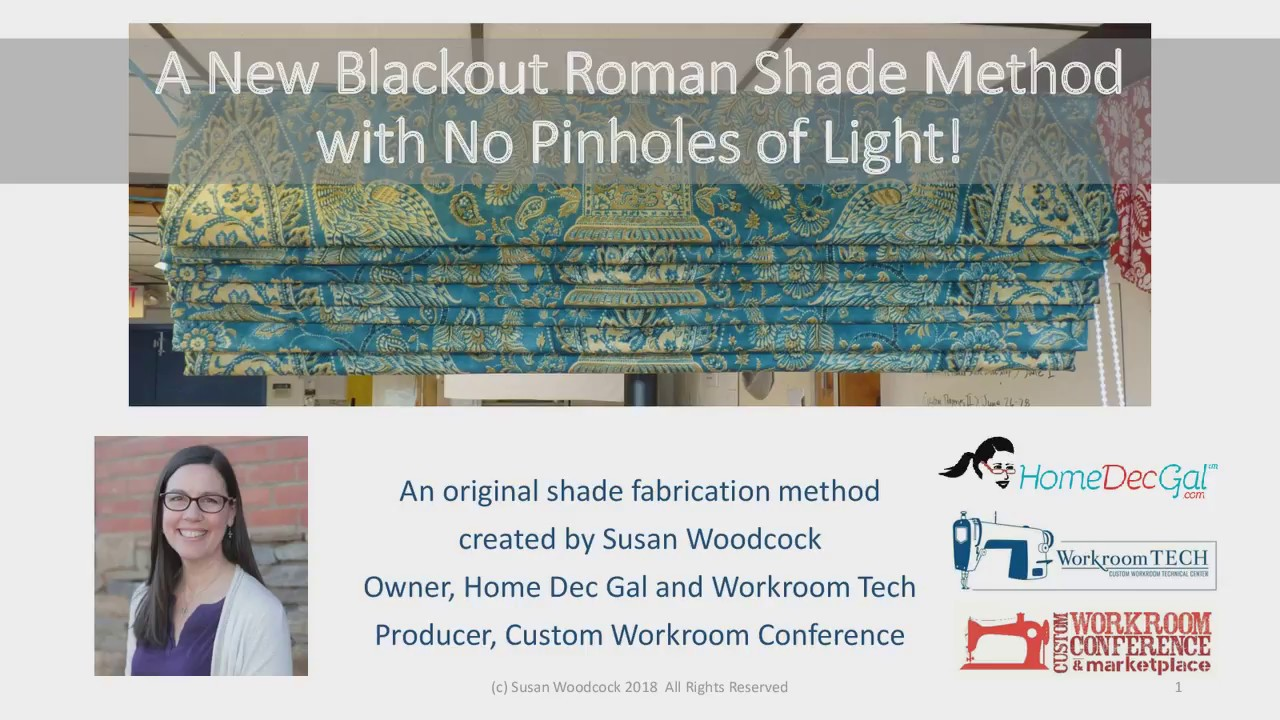 New Blackout Roman Shade Method By