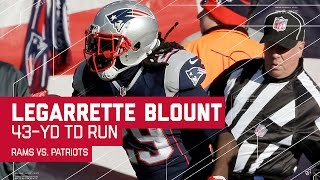 LeGarrette Blount Goes for a 43-Yard TD on 4th Down! | Rams vs. Patriots | NFL