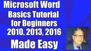 Word Basics - Tutorial for Beginners - Microsoft Word 2010, 2013, 2016 Office 365 Getting Started 07