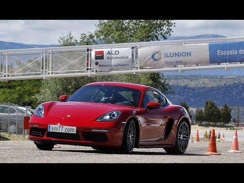 Porsche 718 Cayman 2016 - Maniobra de esquiva (moose test) y eslalon   km77.com