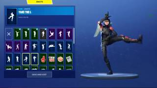 "FORTNITE ""SHADOW OPS"" Skin Showcased with Dances/Emotes 