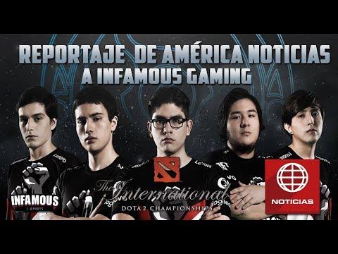 Reportaje de televisión a Infamous Gaming en América Noticias - Dota 2