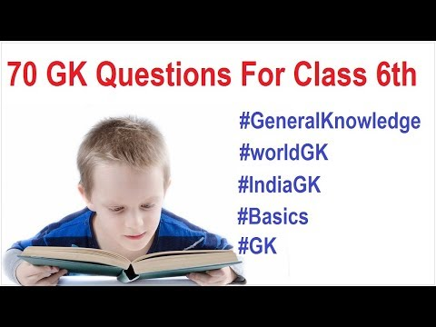 70  General Knowledge Questions for class 6th   Gk   General Knowledge   GK 2019