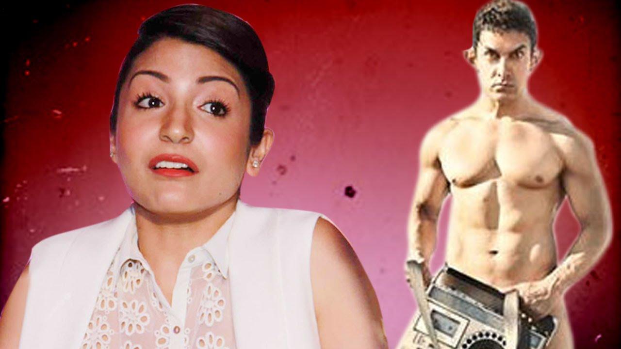 anushka sharma talks on aamir khan's nude pk poster - youtube