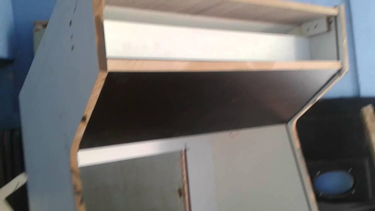 Construindo um fliperama parte 1  Gabinete  YouTube -> Gabinete De Banheiro Duplo