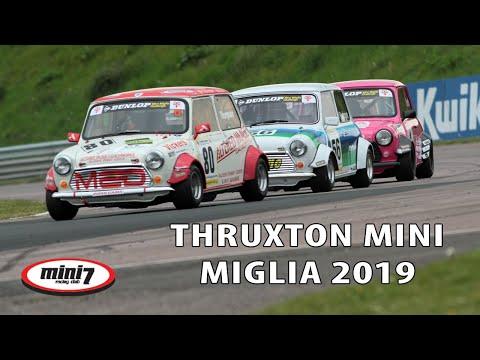 Mini Miglia epic race at Thruxton BTCC 2019