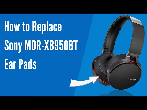f60565e7069 How to Replace SONY MDR-XB950BT Headphones Ear Pads/Cushions | Geekria