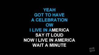 Living In America in the style of James Brown karaoke version with lyrics