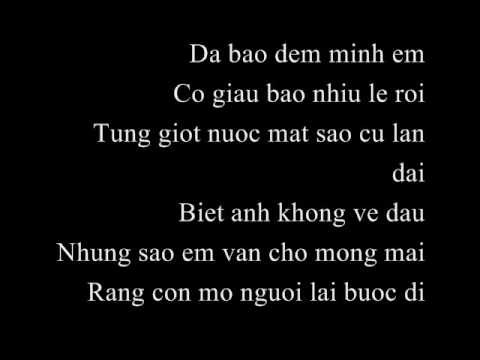 LYRICS: Bao Thy - Bao Dem Em Khoc (FULL lyrics on SCREEN)