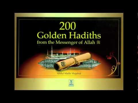 "In Arabic ""200 Golden Hadith from the Messenger of Allah"""