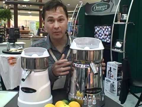 Omega Commercial Citrus Juicers for use in a Juice Bar, Restaurant or your Home