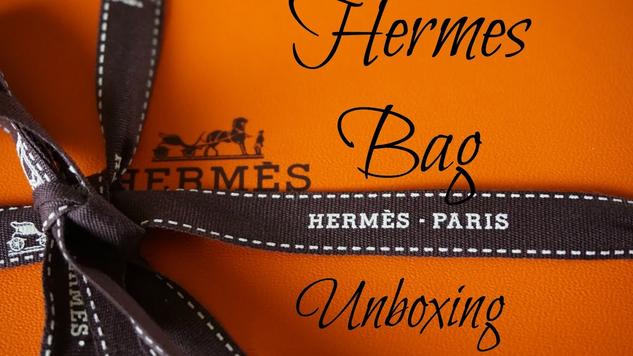 b3a557c91d7e Unboxing Hermes Orange box Hermes What A Dream in 2018