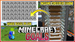Huge Creeper Farm & Base Planning! | Minecraft Goals Ep.4
