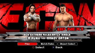 WWE SmackDown VS Raw 2008 PS3 Gameplay - CM Punk VS Randy Orton [FullHD]