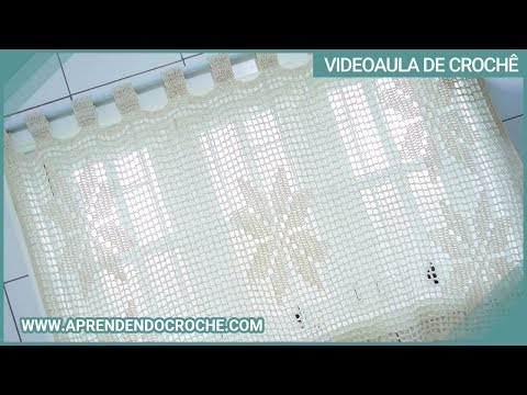 Cortina de croch com barbante em croche fil floral - Modelos de cortinas ...