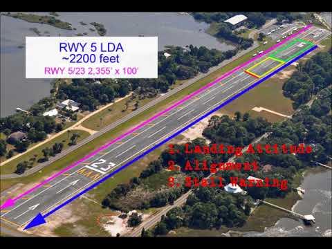 MODULE-04 Short Field Approach and Landing Piper PA28 Cherokee Warrior (Cedar Key)