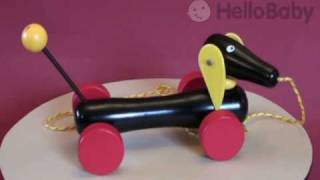 Brio Dachshund - Wooden Pull along toy