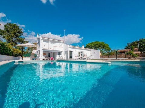 Precious Ibiza style villa offers a nice and cozy garden with private pool and chill out area