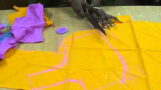 Saree blouse cutting method in English.