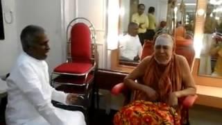 Harmony & Equality : Dalit Ilayaraja sits equal to Sankaracharya