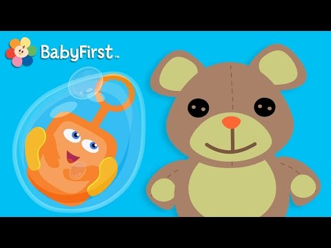 Bubbles Fun  Educational videos for kids by BabyFirst TV   Bloop and Loop, Teddy Bear