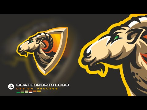 goat-esports-logo---design-process---coreldraw-x8
