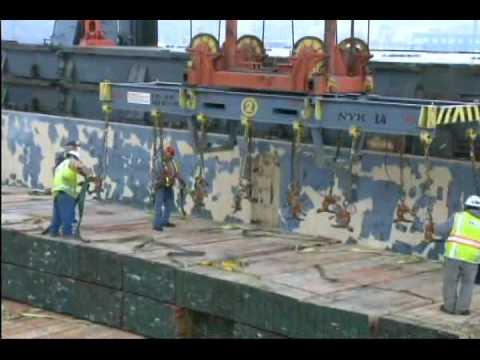 Sherwood Lumber Ship Unloading