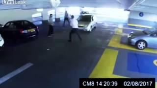 Car park fight ends in a BRUTAL KO