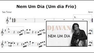 Djavan - Nem Um Dia (Um Dia Frio - Partitura  Sax Tenor)