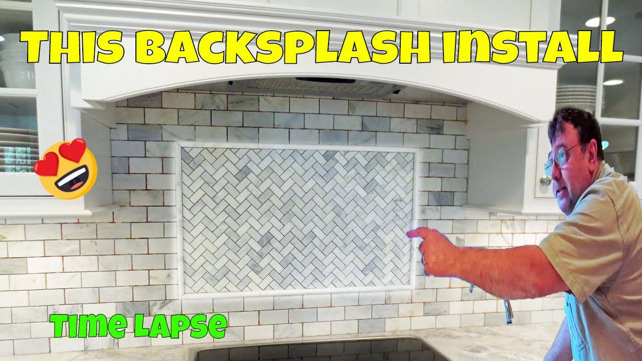 Time lapse marble tile backsplash install youtube dailygadgetfo Images