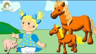 Развивающий мультик Домашние животные и их дети!!! Обучающие мультики для маленьких!
