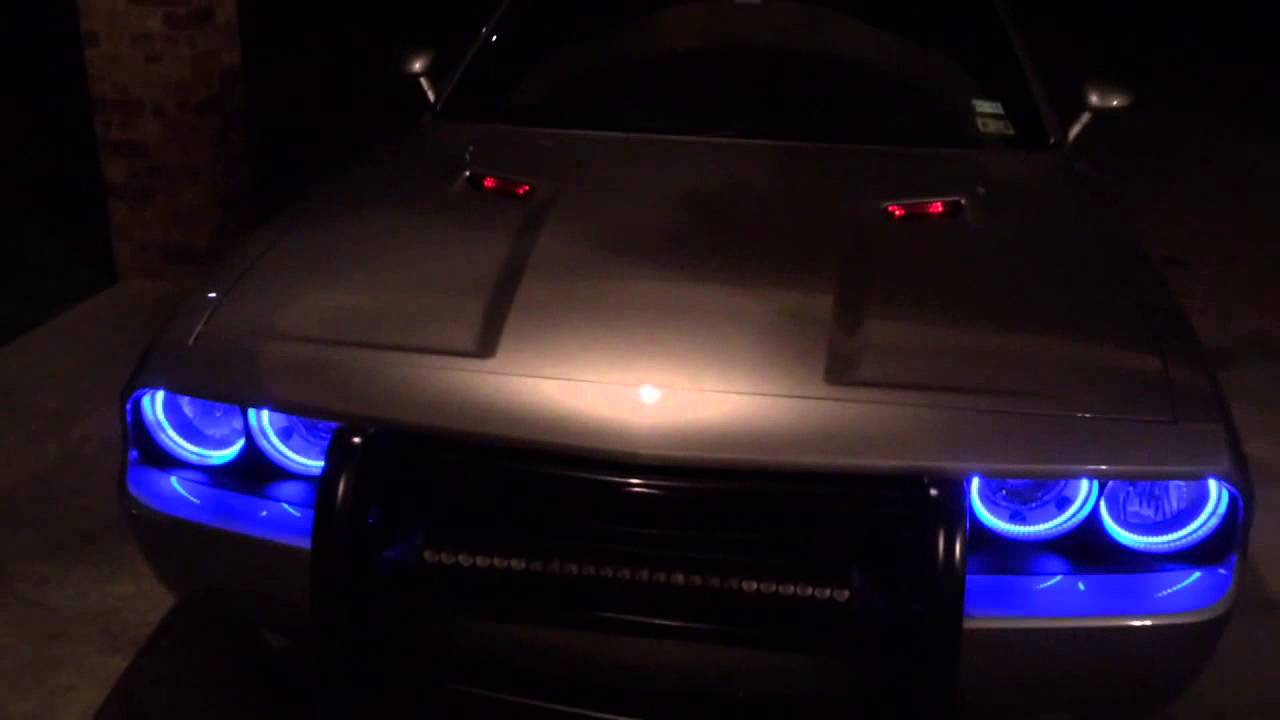 Easy Install Halos For The Dodge Challenger 2015 YouTube