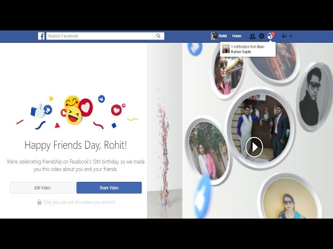 How to Create & Edit Your Friends Day Video on Facebook from YouTube · Duration:  3 minutes 2 seconds