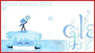 Winter Solstice 2018 Google Doodle