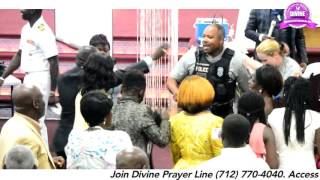 POLICE DANCE IN CHURCH