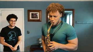 My Little Brother Teaches Me How to Play Saxophone in 10 minutes Ft  Saxologic