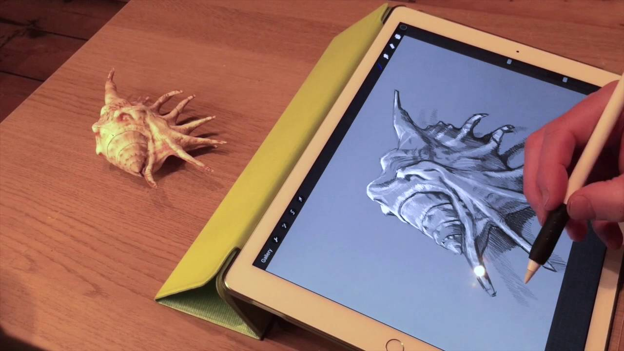 Apple pencil drawing demo 2 on ipad pro and artists review