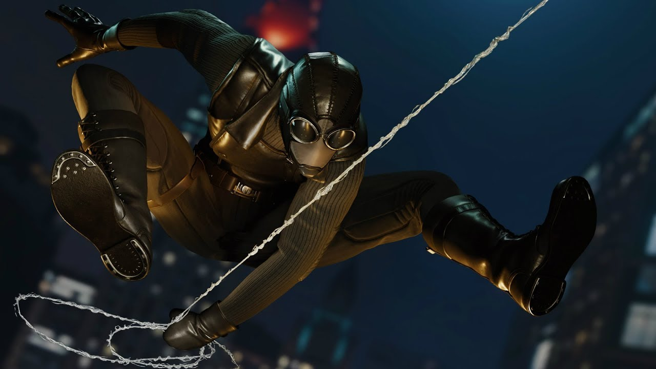 Spider man stealth takedowns noir suit night and day - Spiderman noir 3 ...