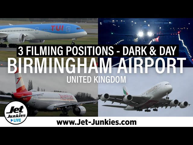 Planespotting at Birmingham Airport | 3 filming locations | NIGHT & DAY
