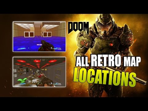 Doom 4 | All RETRO Map Locations (Secret Easter Egg Maps from previous Doom games)